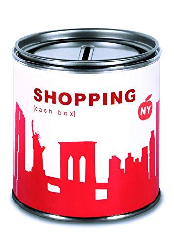 Spardose New York Shopping Geldgeschenke - Witziges Geschenk New York Skyline rot, Geschenkdose Geld Schenken Gutschein Trinkgeld Urlaubgeld Hochzeitsgeschenk