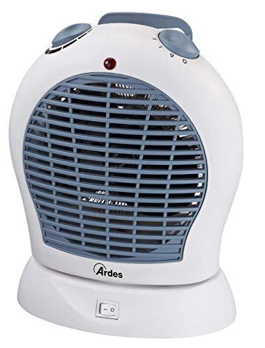 Ardes AR4F03O Swing Termoventilatore Oscillante Elettrico, 2 Potenze con Termostato e LED On/off, 2000 W, Bianco/Baleno, Plastica