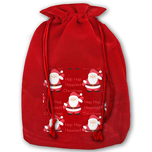 Hap Hap Happiest Christmas Bags Holiday Wrapping Extra Large Jumbo Drawstring for Xmas Presents Stocking Filler Decorations & Party Favors for Kids Girl Boy