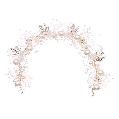 planuuik Fleur Feuille Perle Cerceau de Cheveux Bandeau Bandeau pour Femmes Filles