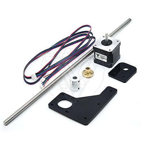 TEVO Tarantula Dual Z Axis Upgrade Kit Nema 42 step motor & T82 lead screw 375 mm 8mm with brass copper for 3D printer part