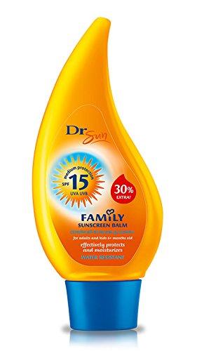DR Sun famille écran solaire baume FPS 15 protection moyenne pour les adultes et pour enfants de mois. 8.5 fl.oz / 250ml