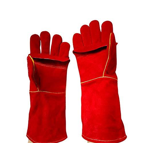Guantes de trabajo Guantes de múltiples funciones de soldadura for soldar for la soldadura MIG TIG ARC MMA de fuego a prueba de calor de seguridad de trabajo de los mitones guantes de cuero for el man