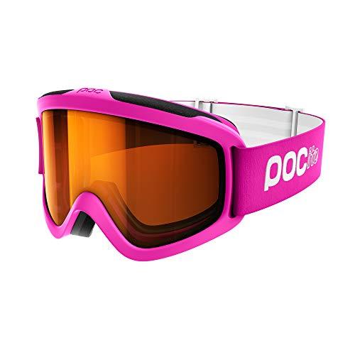 POC Pocito Iris, Maschera da Sci Alpino Unisex Bambini, Fluorescent Rosa, Taglia Unica
