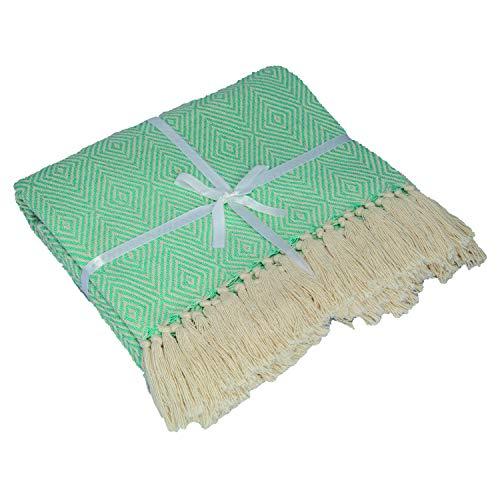 manta verde menta fabricante KHRIS COLLECTION