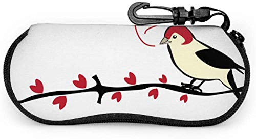 Pájaros con camachuelo Red Berry Funda para gafas de sol para niños...