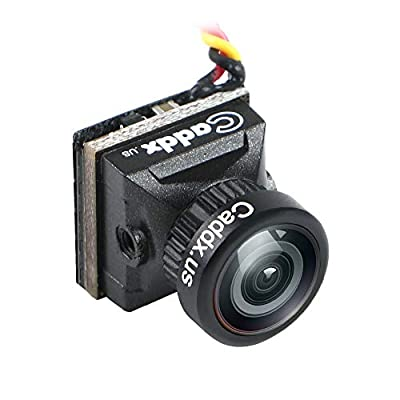 Mini FPV Camera Caddx Turbo EOS2 4:3 1200TVL 2.1mm FOV 160 Degree 1/3 CMOS PAL Micro Mini FPV Camera Black for FPV Quadcopter Racing Drone