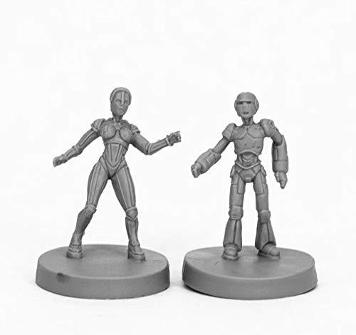 Pechetruite 2 x Androids Male and Female Chronoscope - Reaper Bones Miniatura para Juego de rol Guerra - 49011