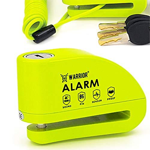 WARRIOR WA6Y Antirrobo Candado Disco Alarma 110 db Certifica