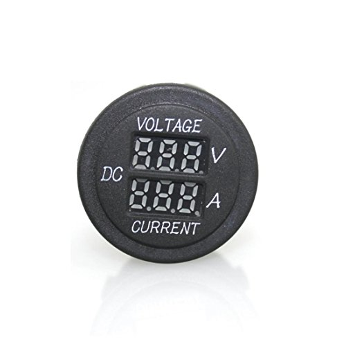 Voltmeter Amperemeter, lanowo 2?in 1?Digital Voltmeter Amperemeter Spannung 12?V/24?V rot LED Panel Volt Amp Tester für Batterie Auto KFZ Motorrad Ebike Boot