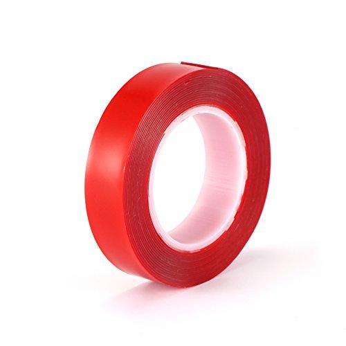 Voiture acrylique, ruban double face de réparation de voitures pour l'industrie automobile et des ménages résistant à la chaleur, 8 mm * 3m Rouge