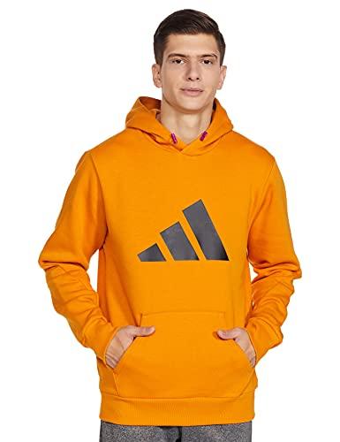 Adidas Men's Cotton M Fi Wtr Hoodie Sweatshirt (H21562_L, Focora, L)