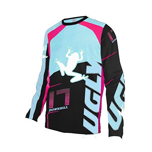 Uglyfrog Winter Thermal Vlies Herren Langarm Mountainbike Downhill Freeride BMX Trikot Shirt MTB Jersey