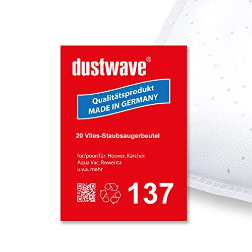 Megapack - 20 Staubsaugerbeutel geeignet für Rowenta - RU 34 Allround Kesselsauger (30 Liter) - dustwave® Premiumqualität - Made in Germany