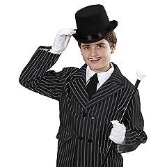 Top Felt Child Size - Black Felt Top Hats Caps & Headwear for Fancy Dress Costumes Accessory #1