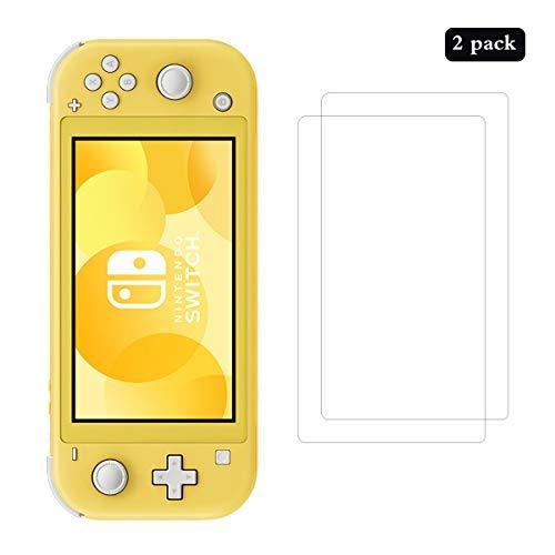 AhaSky 2Stück Schutzfolie für Nintendo Switch Lite Panzerglas, HD Displayschutzfolie, 9H Härte Schutzfolie, Anti-Kratzer/Bläschen/Fingerabdruck/Staub Panzerglasfolie für Nintendo Switch Lite
