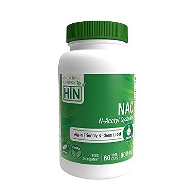 NAC 600mg N-Acetyl Cysteine 60 Vegecaps NON-GMO by Health Thru Nutrition