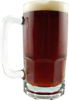 German Style Oktoberfest Extra Large Glass Beer Mug - 34 oz (1)