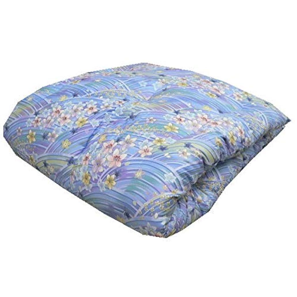歩道投獄大胆不敵エブリ寝具ファクトリー 讃岐ふとん 和敷き布団 シングル (ブルー系) 日本製 インド綿100% 敷布団