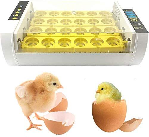 Incubatrici Automatica Incubatrice per uova incubatrice di 24 incubatrici con Controllo di Temperatura e umidità con illuminazione a LED per Uova per polli, Anatre, oche e Uccelli