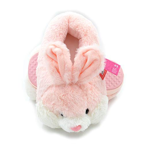XHBYG Cute Animal Slippers, Pink Rabbit Plush Winter Warm Velvet Slippers Comfortable Indoor Shoes Hamster Bunny Slippers Cat Plush Slippers 6 RABBITPINK