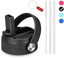 Enjoyee Straw Lid for Hydro Flask Wide Mouth Water Bottles, Bonus 2 Straws and 1 Straw Brush, Compatible with Most...