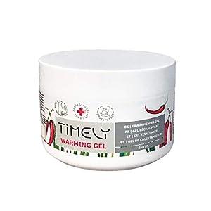 Timely - Gel efecto calor con alcanfor para el alivio muscular, 250 ml