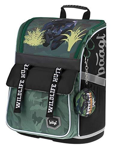 Schulranzen Jungen 1. Klasse - Ergonomische Schultasche für Kinder - Schulrucksack mit Brustgurt - Grundschule Ranzen (Panther)