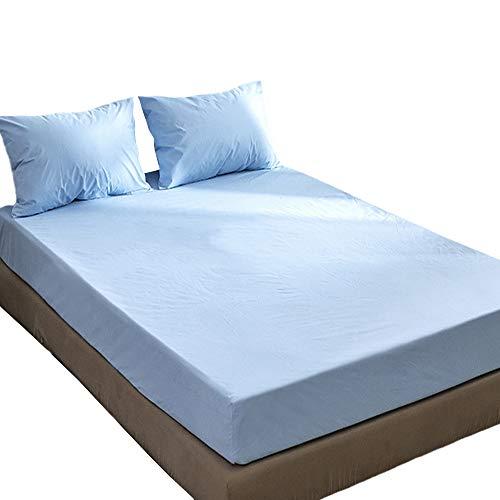 Sábana Impermeable De Color Sólido a Prueba De Polvo Y Funda De Colchón a Prueba De Humedad 99x190x32cm/azul