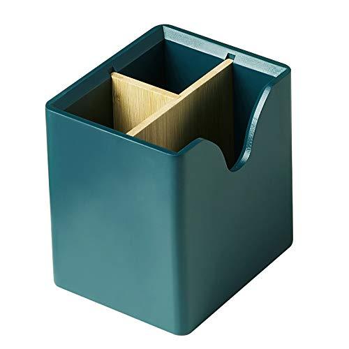 TYM Caja de Almacenamiento de Porta brochas de Maquillaje, delineador de Ojos y lápiz de Cejas, Que se Utiliza para almacenar y organizar cosméticos, también se Puede Usar como jarrón, Verde.