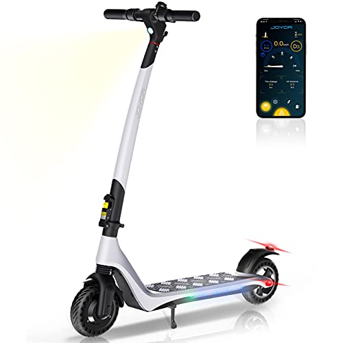 JOYOR Electric Scooter forAdults Powerful 350W Motor Max Speed Up to 15.5 MPH, 15.5 Miles Long Range, One-Step Fold ScooterElectricfor Commute and Travel(A3 White)