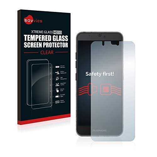 Savvies Panzerglas kompatibel mit Fairphone 3 - Echt-Glas, 9H Härte, Anti-Fingerprint