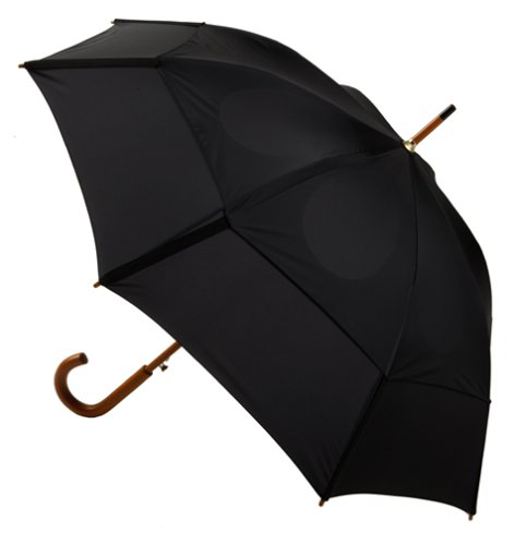 GustBuster Classic Automatic Folding Umbrella Windproof, Lightweight & Strong 48-Inch with (Black)