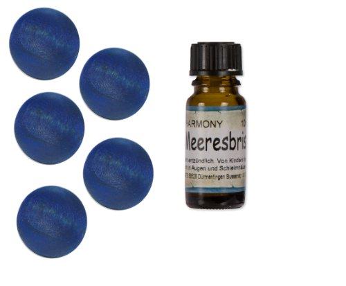 5xMEERESBRISE-Duftholz-Duftfrucht+10ml Meeresbrise+Körbchen-Duftöl-Dufthölzer-Duftkugel-Raumduft-Parfümöl-Angebot-Sparangebot