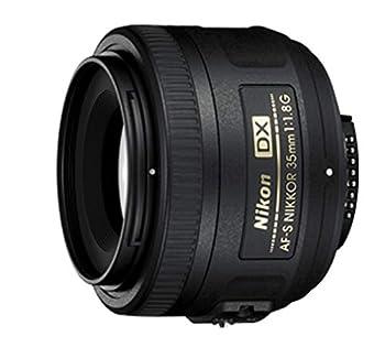 Nikon AF-S DX NIKKOR 35mm f/1.8G Lens with Auto Focus for Nikon DSLR Cameras 2183 Black