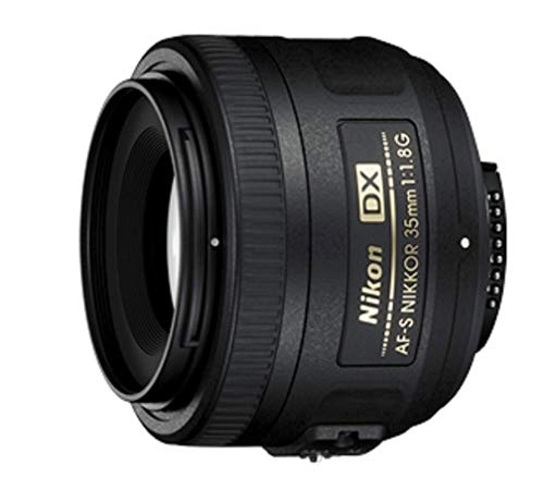 Nikon AF-S DX NIKKOR 35mm f/1.8G Lens with Auto Focus for Nikon DSLR Cameras, 2183, Black