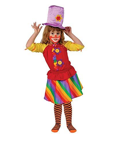 Dress up America Disfraz de Payaso nia del Arco Iris