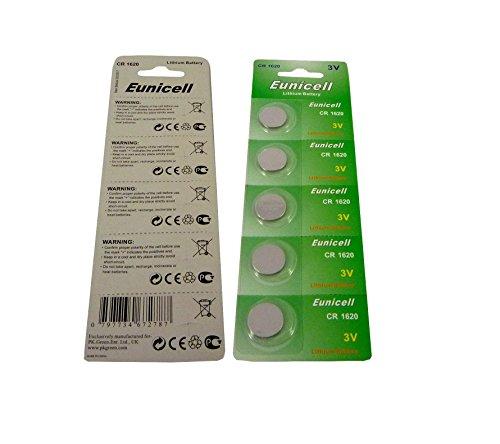 5er-Blister CR1620 CR 1620 3V Lithium Knopfzellen / Batterien