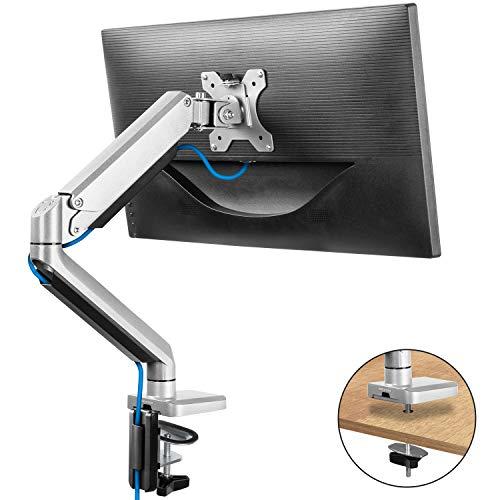 ErGear Professionale Supporti Monitor PC per 17'-32' - Molla a Gas Full Motion Regolabile Design Ergonomico Supporto Monitor Braccio Metodo di Installazione di Pinza & Grommet VESA 75x75/100x100mm