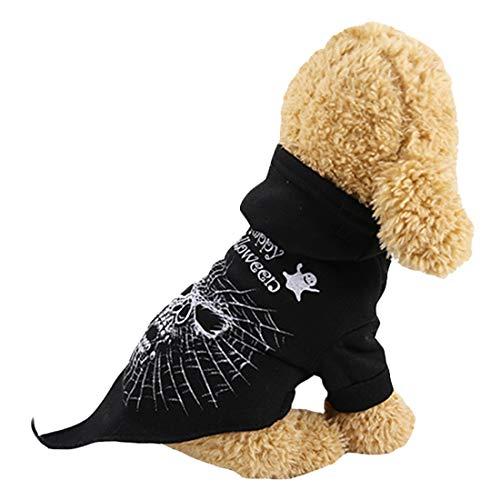N / A Disfraces De Halloween del Animal Doméstico del Perro, Cráneo Ropa Ropa para Perros Pequeños Perros Medianos Accesorios De Disfraces De Halloween Cosplay