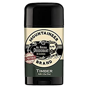 Mountaineer Brand All Natural Deodorant Stick by Mountaineer Brand | Stay Fresh With Safer Ingredients | 3.25 oz (Timber… 2