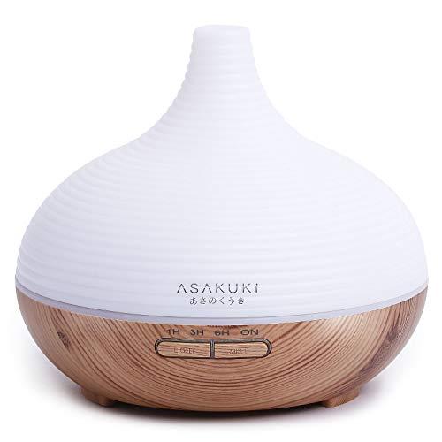 ASAKUKI 300ml Aroma Diffuser für Duftöle, Premium Ultraschall...