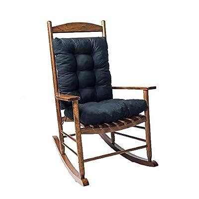 SeaHome Rocking Chair Cushion Pad, 2 Piece Indoor/Outdoor Rocking Chair Cushions Set Non-Slip Overstuffed Patio Chair Cushion
