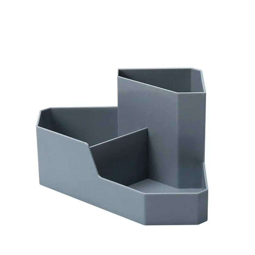 好戦的な選ぶ破滅KAMXZHEI 化粧品収納ボックス女性3グリッドプラスチックアイテムコーナーデスクトップ化粧品収納ボックス
