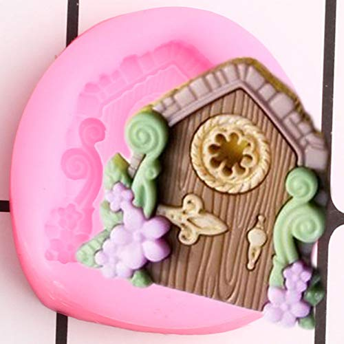 JACKWS Moldes De Silicona para Puerta, Molde para Cupcakes, Fondant, Herramientas De Decoración De Pasteles De Cumpleaños para Bebés, Moldes para Pasta De Goma Y Chocolate
