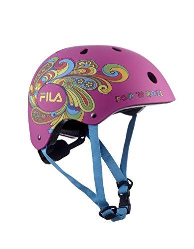 FILA SKATES Bella Helmet Protecciones, Niñas, Rosa, M/L