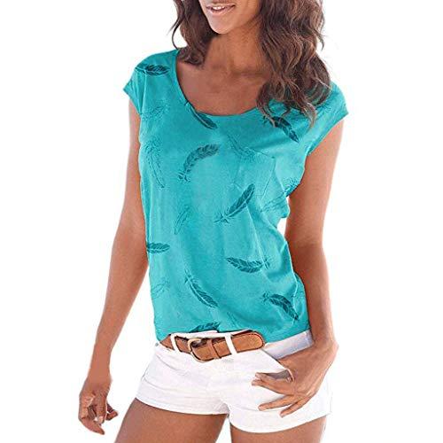 JiaMeng Moda Impresa Camiseta Blusa Tops Verano Suelta