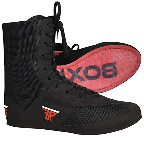FISTRGE Leather High Top Kick Boxing Shoes Fighting Sports Master Training Mesh...