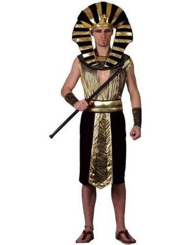 Disfraz de Faraón de Egipto para hombres – Oro, negro – Talla XL ...
