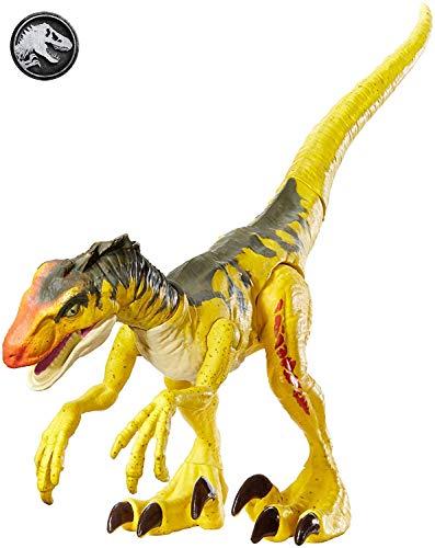 Jurassic World- Velociraptor Colpo Selvaggio Dinosauro in Taglia Ridotta, Giocattolo per Bambini 4 + Anni, GFG66